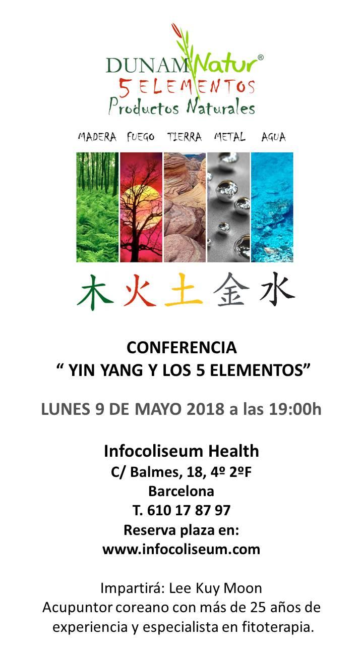Conferencia Yin Yang y los 5 Elementos