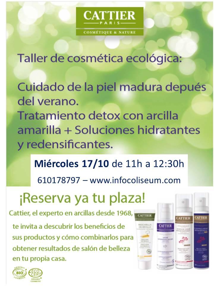 Taller de cosmética ecológica Cattier: cuidado de la piel madura después del verano