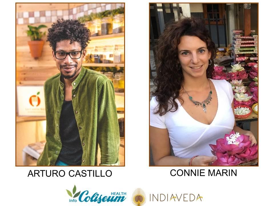 Jornada Ayurveda: Arturo Castillo, Connie Marín, Indiaveda
