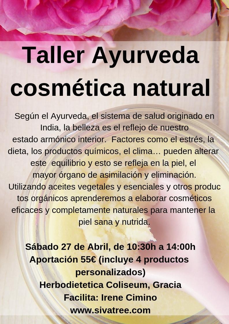 Taller cosmètica natural Ayurveda