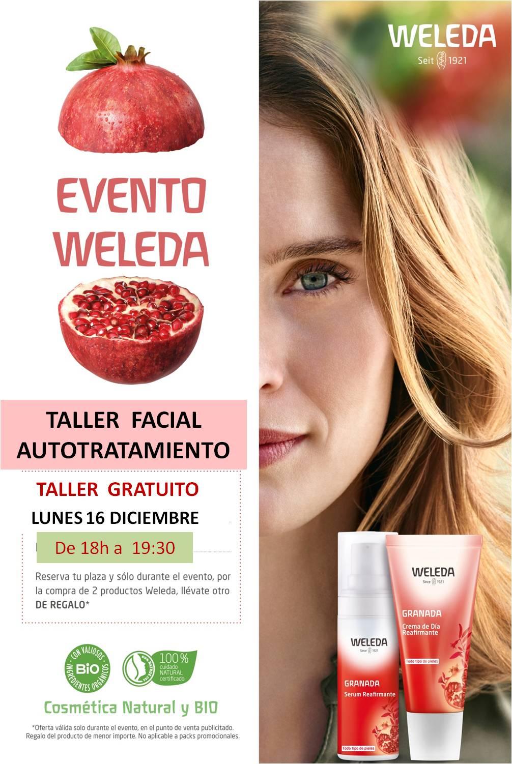 Weleda: Taller facial autotratamiento con Cosmética Natural. Taller gratuito.