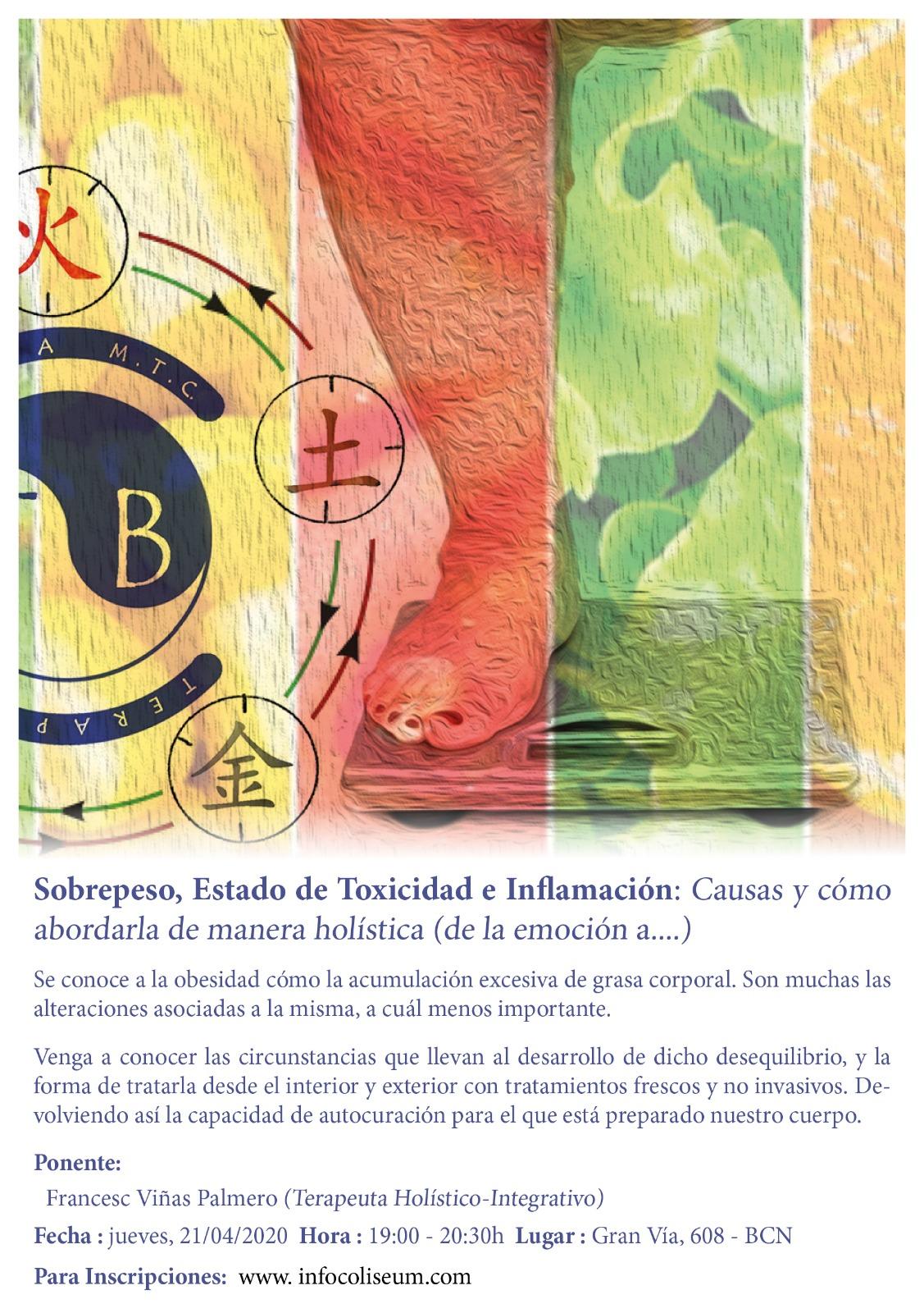 CANCELADO!! Sobrepeso, Estado de Toxicidad e inflamación: Causas y cómo abordarla