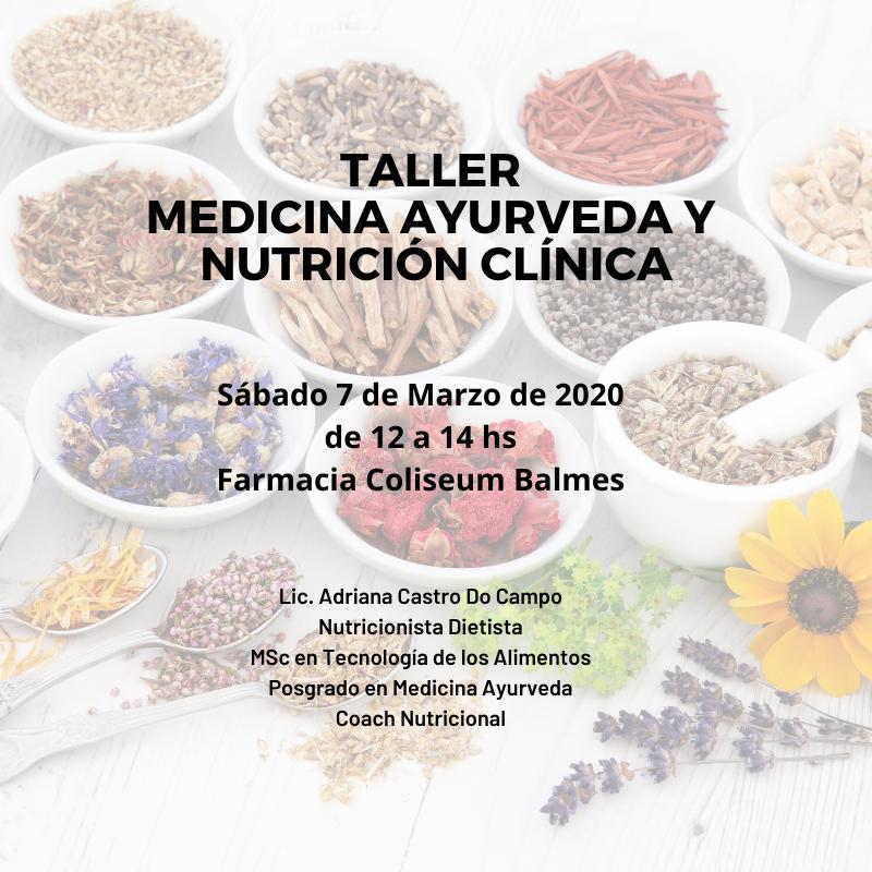 Taller de Medicina Ayurveda i Nutrició Clínica