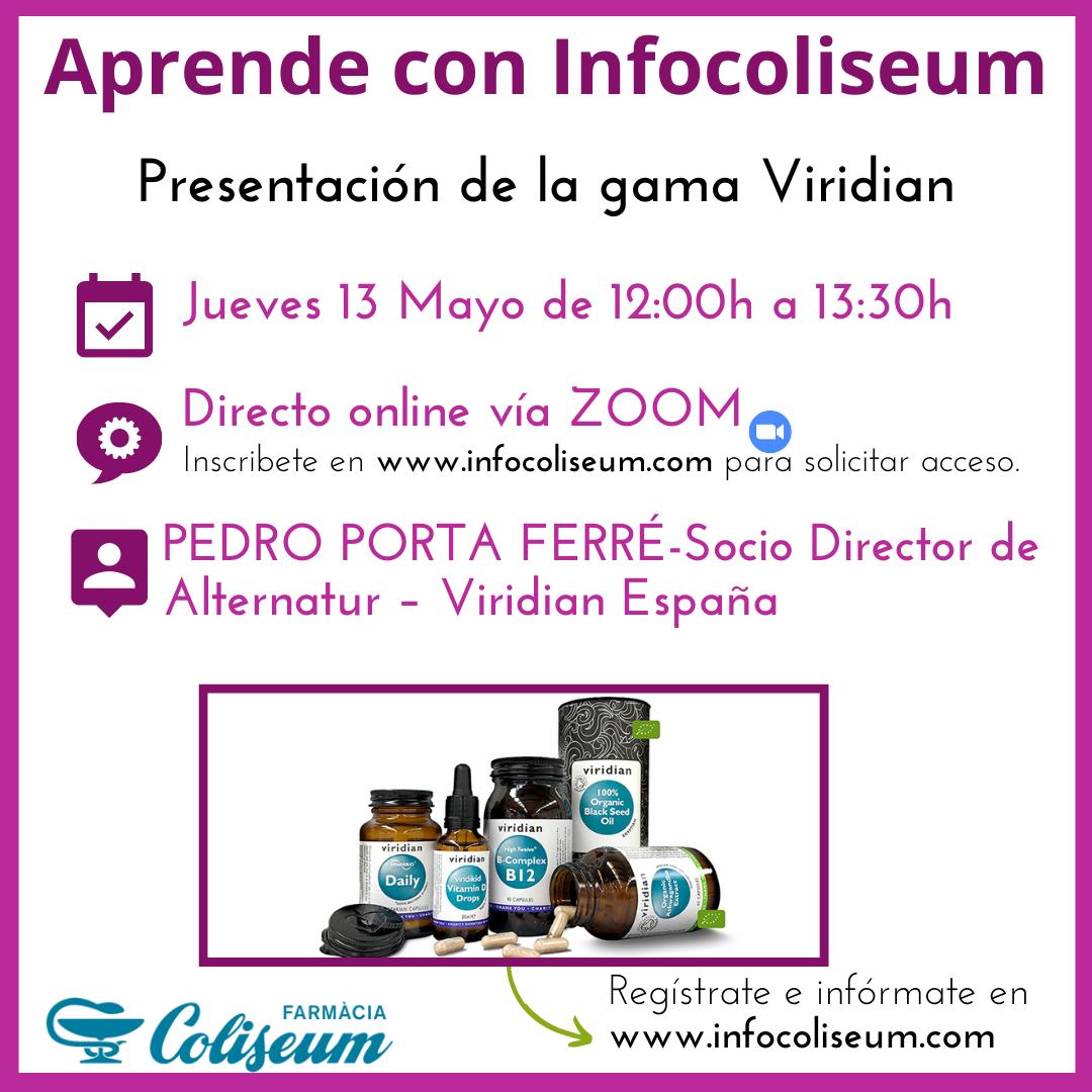 """Vía ZOOM: """"Presentación de la gama Viridian"""""""