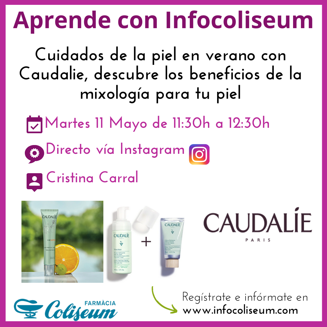 Directo Instagram: Cuidados de la piel en verano con Caudalie, descubre los beneficios de la mixología para tu piel.