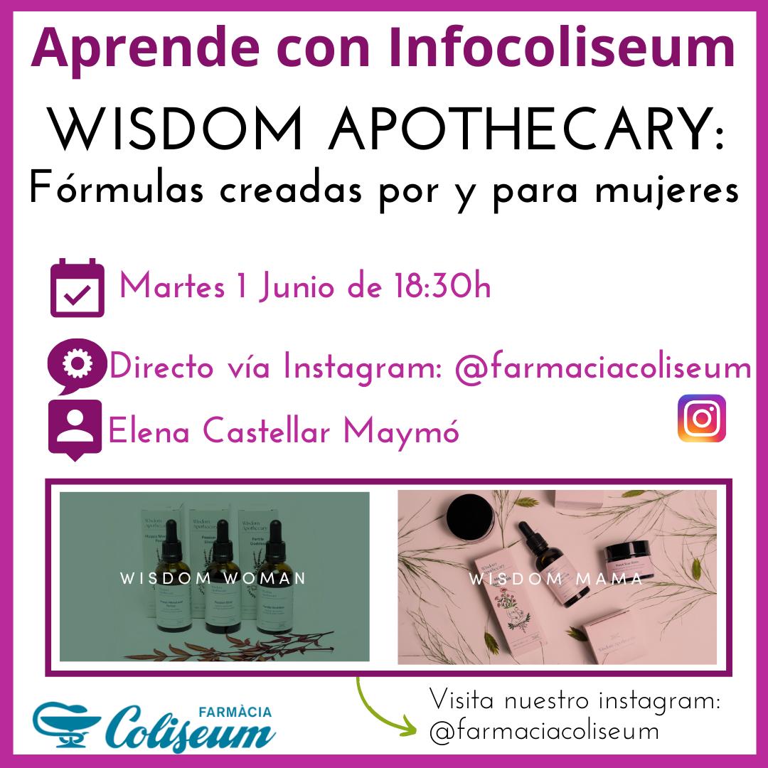 Directo Instagram: Wisdom Apothecary, formulaciones hechas por y para mujeres