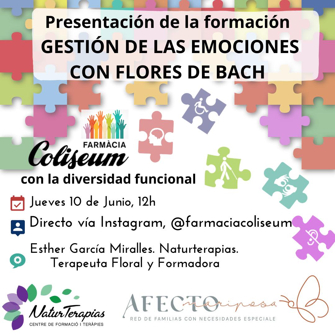 Directo Instagram: Presentación Gestión emociones con Flores de Bach en Diversidad Funcional