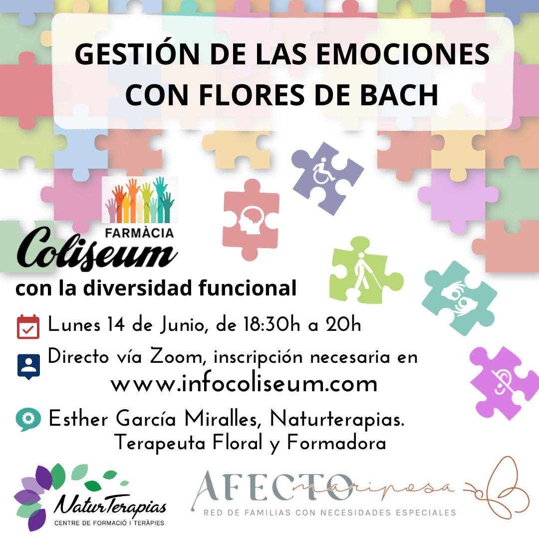 Diversidad funcional: Gestión de las emociones con Flores de Bach. Esther García Miralles