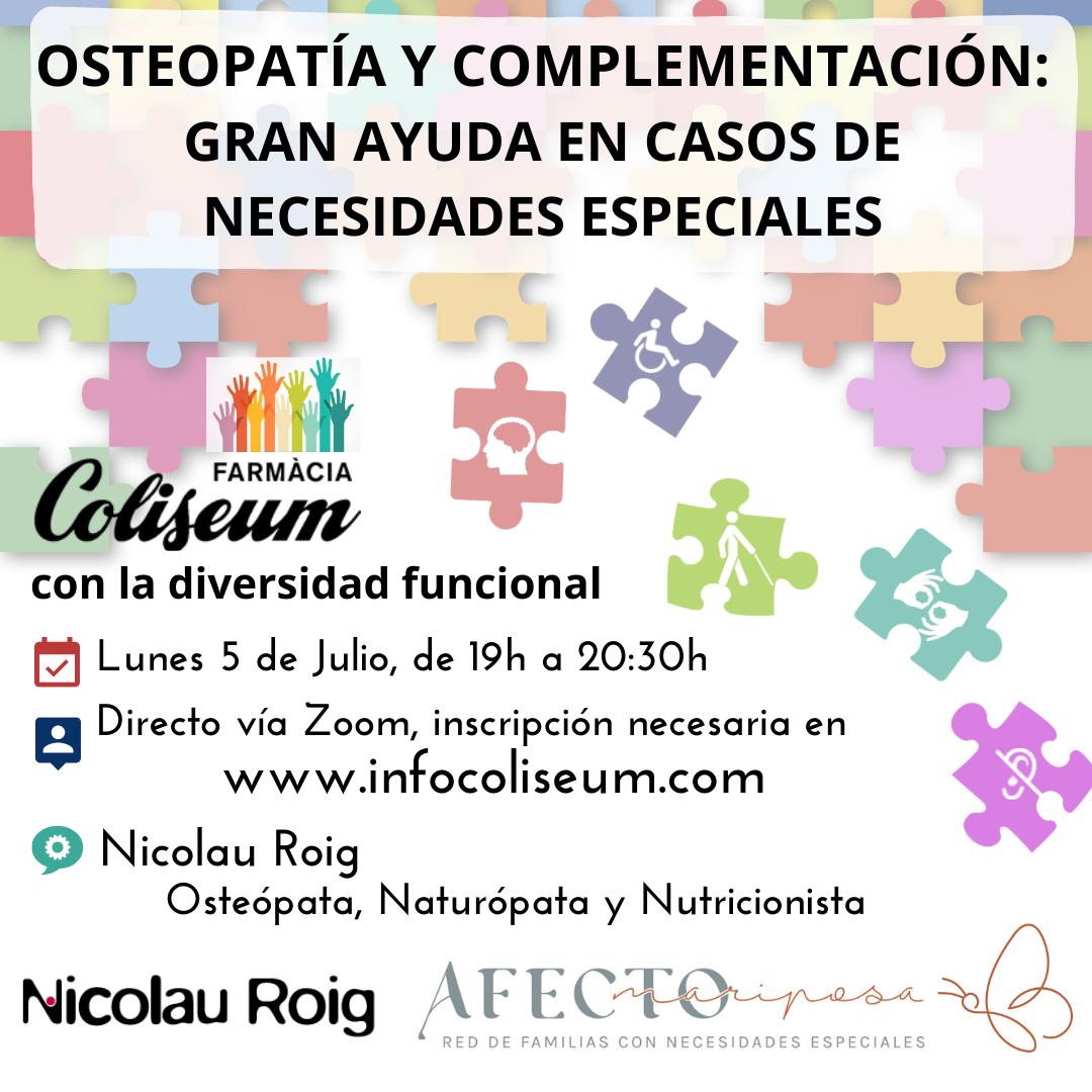Zoom: Coliseum con la Diversidad Funcional: Osteopatía y complementación