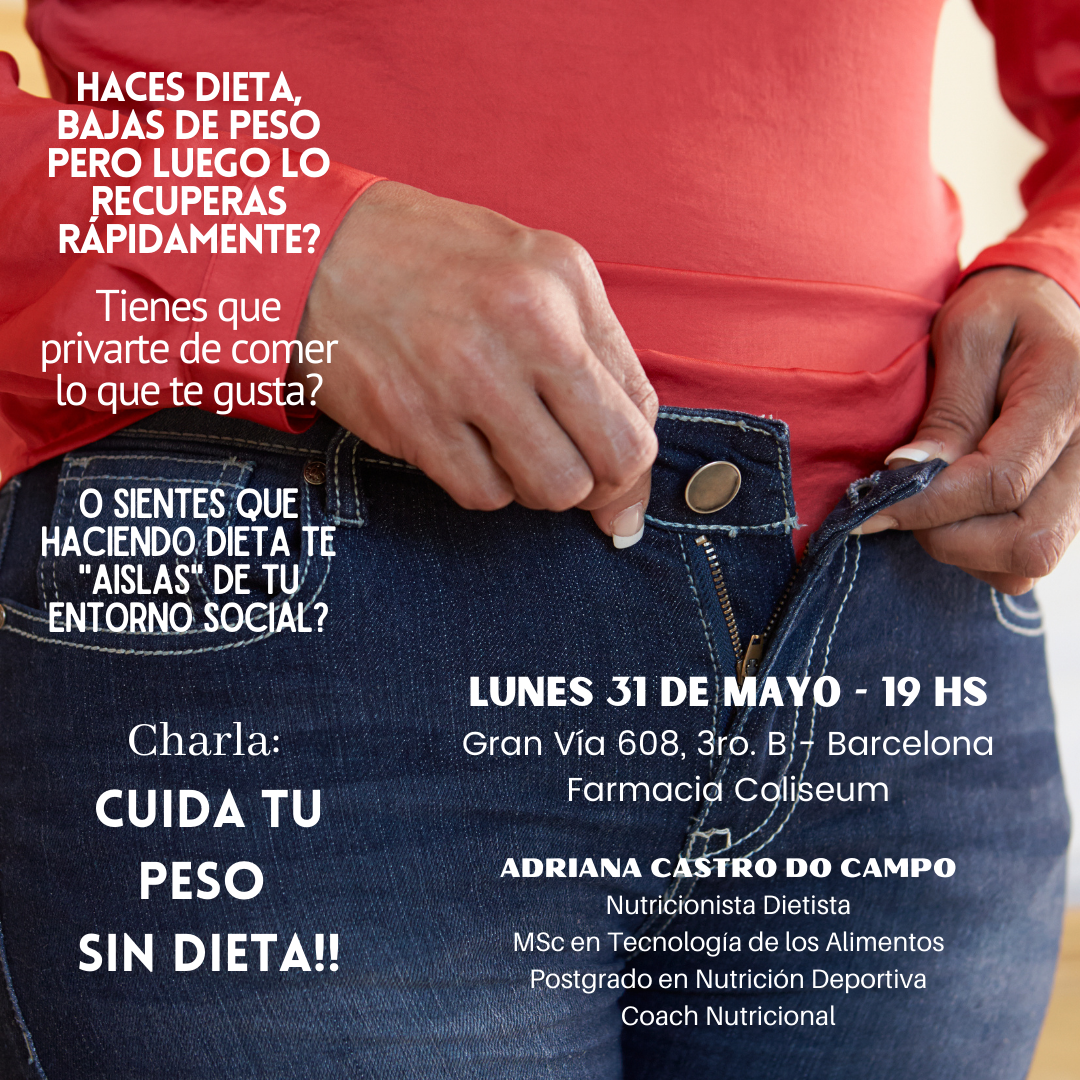 Cancelado. Charlas de Nutrición orientadas al Sobrepeso y Obesidad